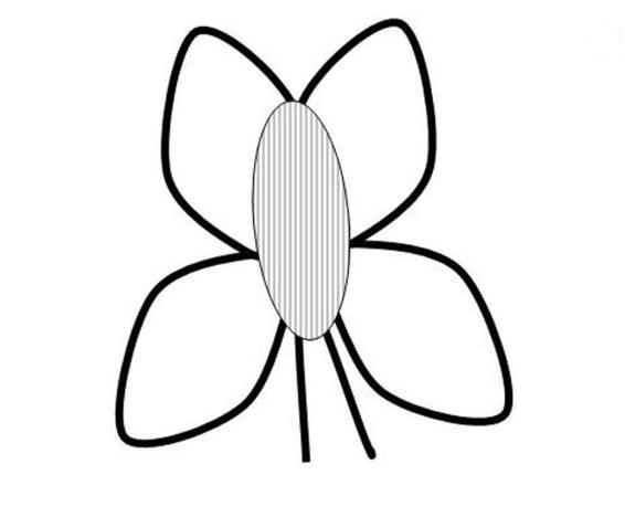 So sieht der fertige Schmetterling aus.