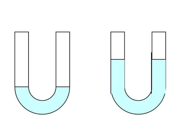 In verbundenen Gefäßen steht Flüssigkeit gleich hoch.
