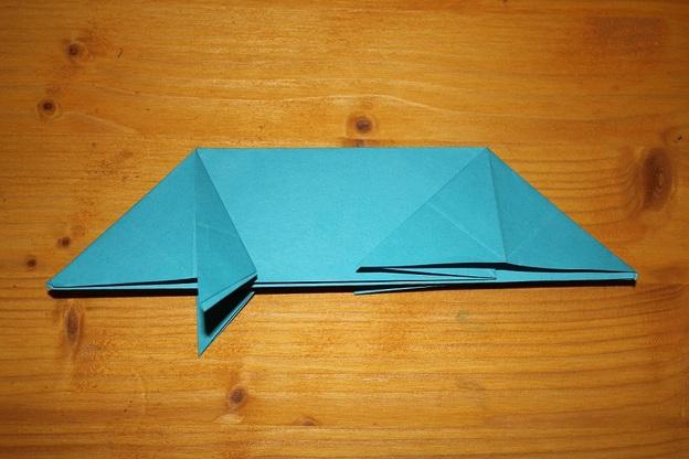 Tonpapier-Schweinchen Schritt 4.
