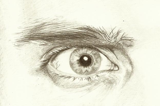 Je detaillierter die Zeichnung, desto realistischer das Auge.