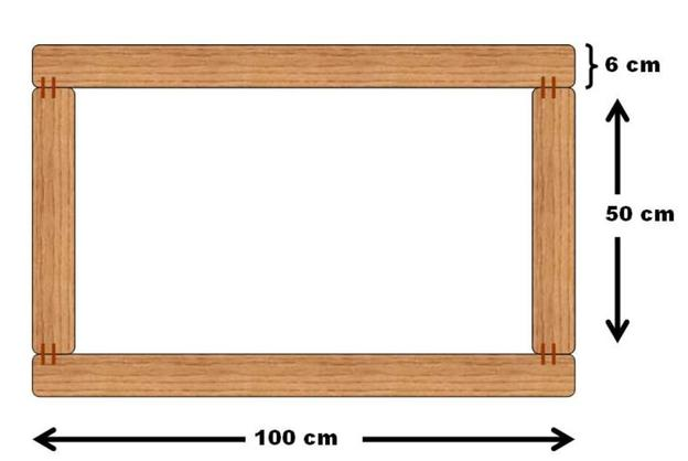 Oberer Rahmen des Tischgestells