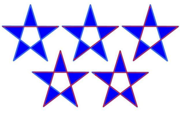 Den Stern können Sie in einem Zug zechnen.