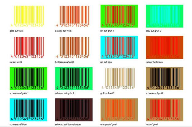 Diese Farbkombinationen sind schlecht bis gar nicht geeignet.