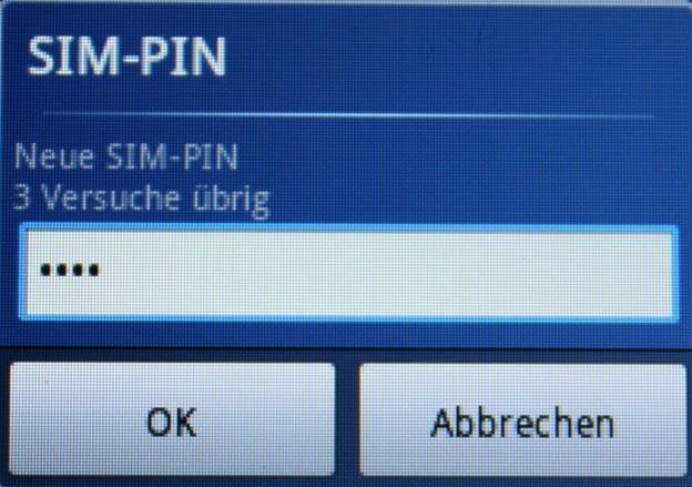 Tippen Sie die neue PIN ins Handy.