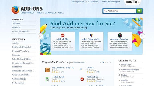 AdblockPlus ist ein Werbeblocker für Firefox.