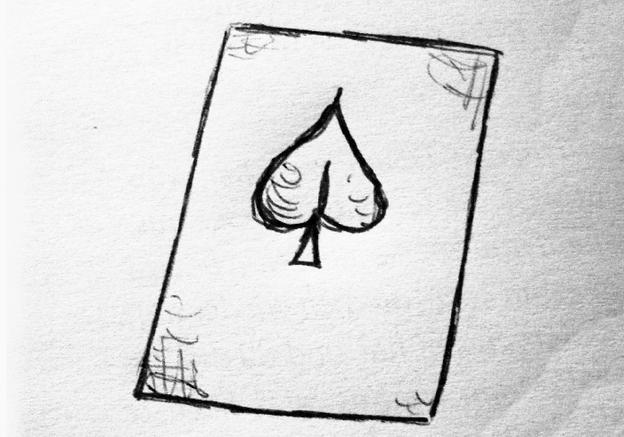 Blatt auf Papier legen.