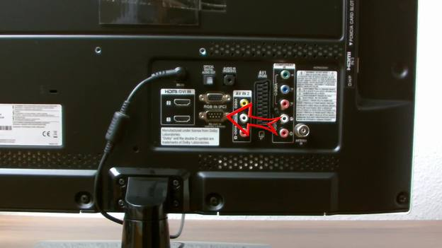 Der VGA-Anschluss am Fernseher.