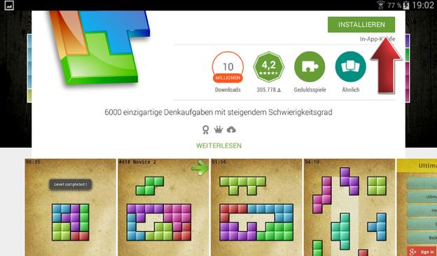 Installieren Sie mit einem Klick die gratis App.
