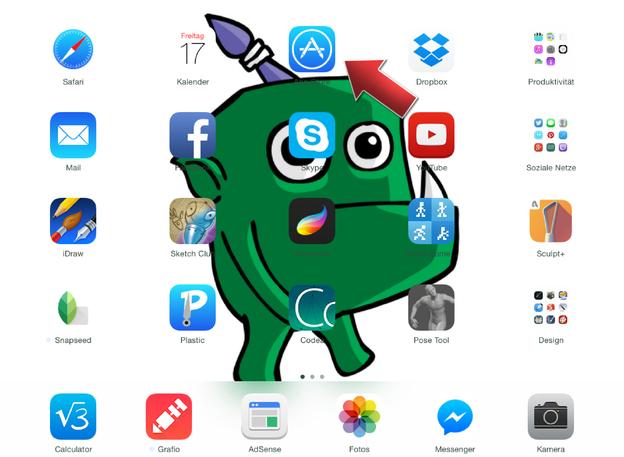 Ihr vorinstallierter App- Store befindet sich auf dem Startbildschirm.