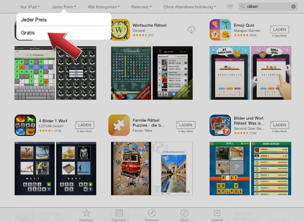 Wählen Sie gratis aus und sehen Sie kostenlose Apps.
