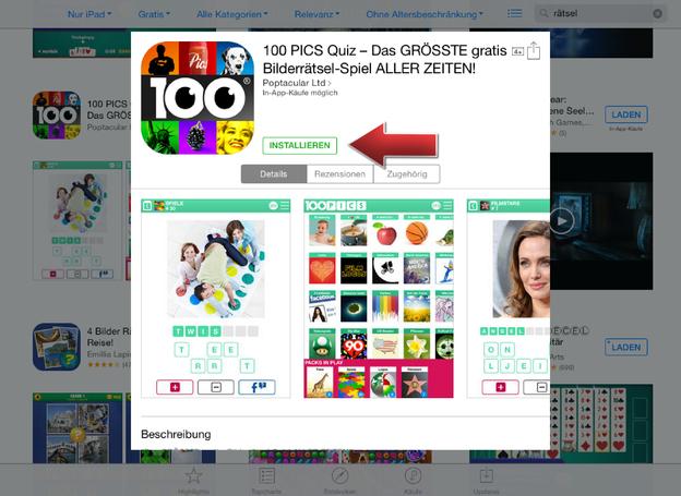 Installieren Sie mit wenigen Schritten Ihre gratis App.