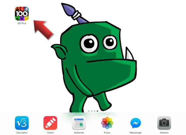 Die installierte App befindet sich auf Ihrem Startbildschirm.