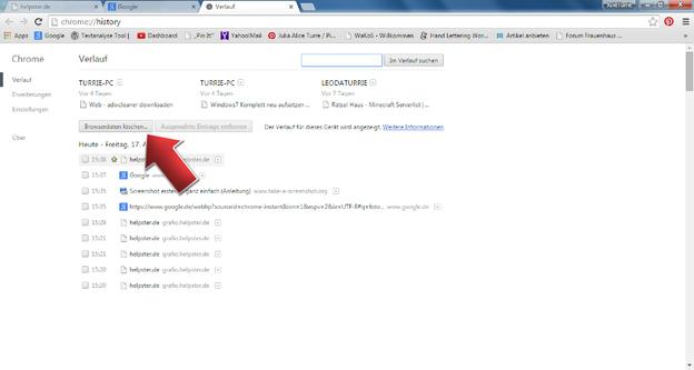 Browserdaten löschen Sie einfach und schnell.