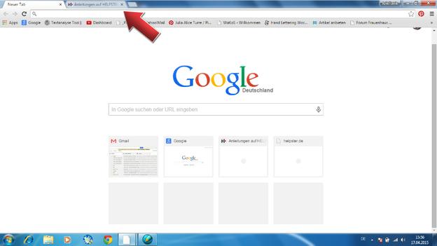 Behalten Sie den Überblick durch Speichern Ihrer Webseiten.