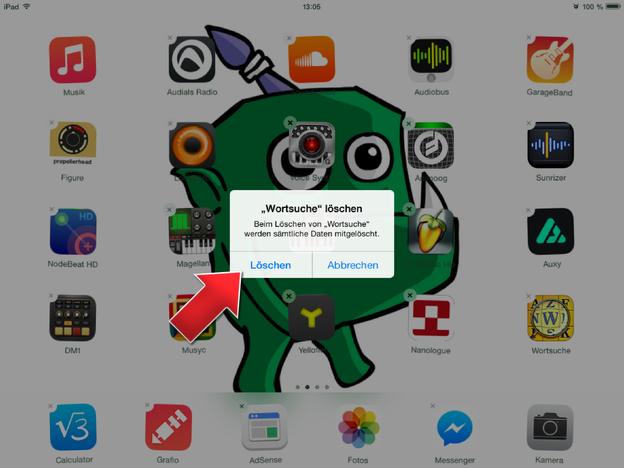 Löschen Sie Apps direkt über den <a class='inlinelink' href='/elektronik-computer/bildschirm-10228'>Bildschirm</a>.