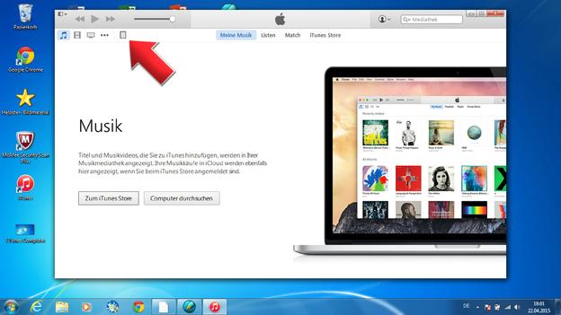 Über das iPad- Symbol gelangen Sie in Ihren Ordner.