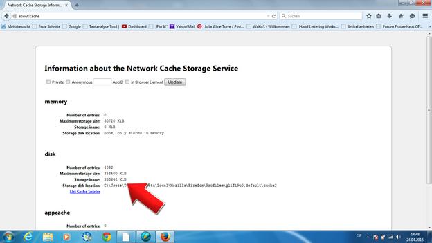 Gelöschte Webseiten lassen sich einfach und schnell bei Firefox aufspüren.
