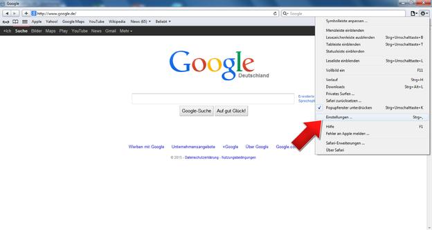Auch mit Safari sehen Sie auf Ihre besuchten Internetseiten.