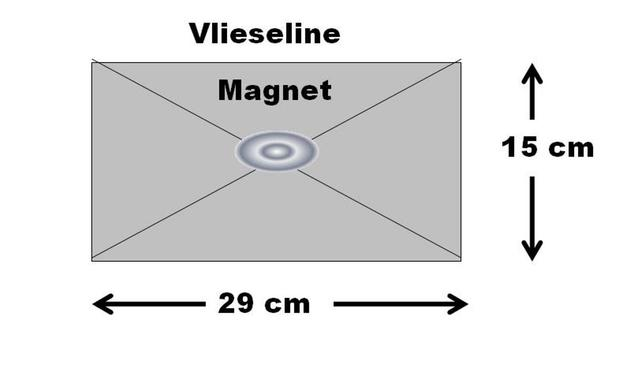 Magnetknopf anbringen