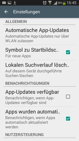 Automatische Updates bei mobilem Internet deaktivieren