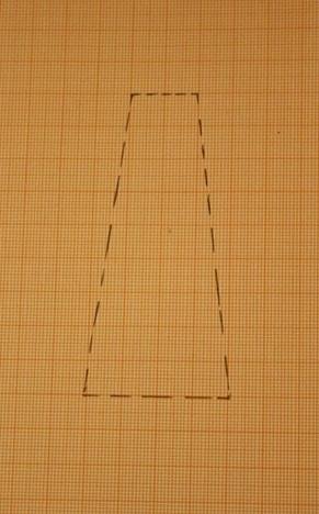 Am Anfang steht ein trapezförmiges Rechteck.