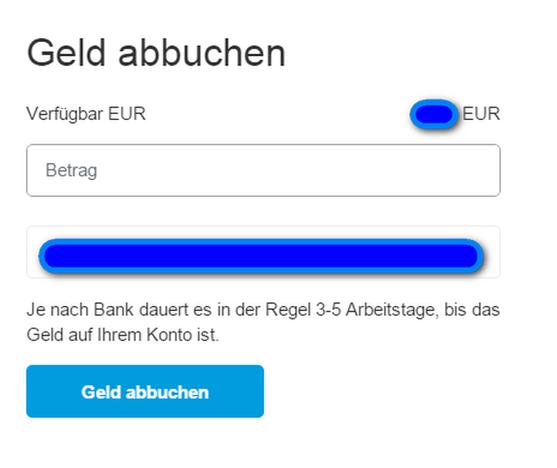 PayPal-Guthaben auf Bankkonto buchen