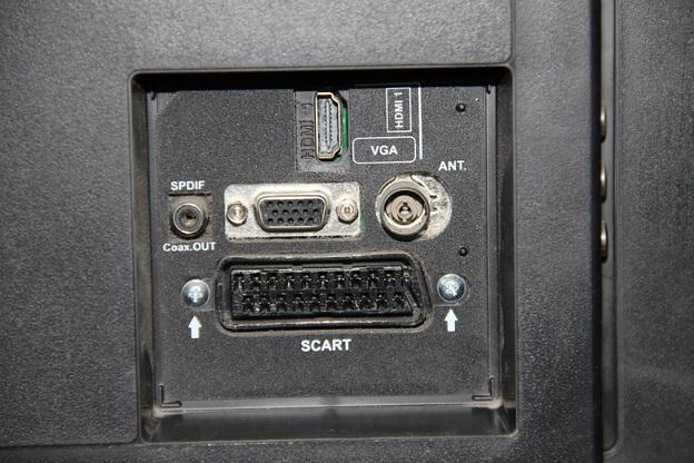 Das sind die unterschiedlichen Anschlüsse an einem modernen Fernsehgerät.
