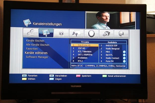 Nach erfolgtem Sendersuchlauf lassen sich die einzelnen Programme noch verschieben.
