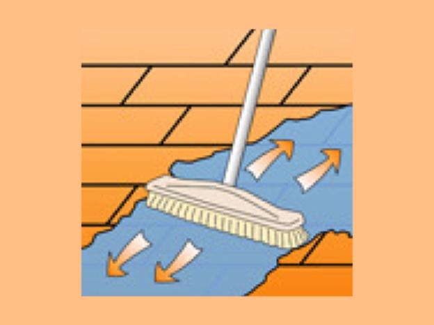 Der Sandstein muss vor der Versiegelung gründlich gereinigt werden.
