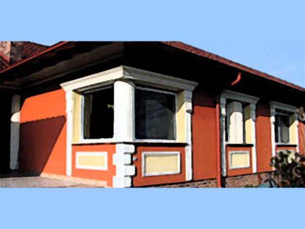 Fassaden können mit verschiedenen Farbeffekten gestaltet werden.