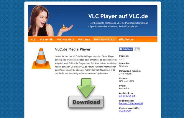 Der VLC Player ist kostenlos.