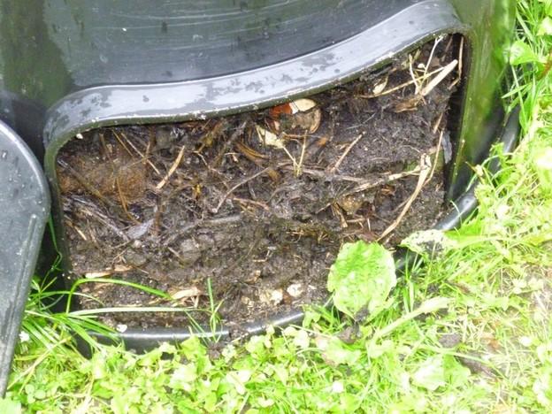 Mit Kompost reichern Sie den Boden an.