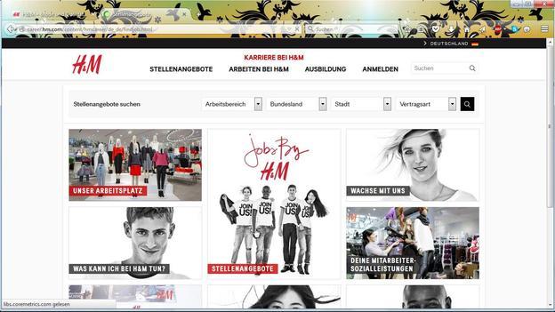 Informationen zum Arbeitsumfeld bei H&M.