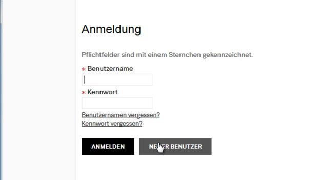 Im System online anmelden.