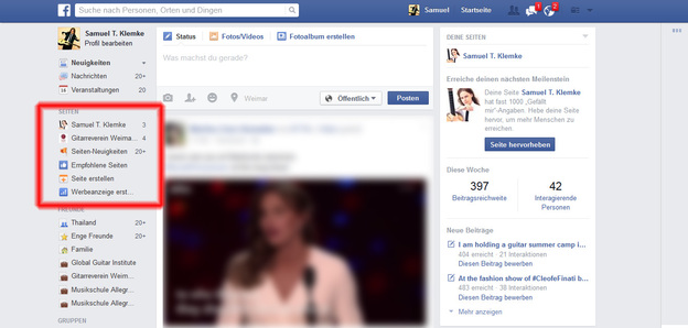 Erst einmal bei Facebook anmelden.