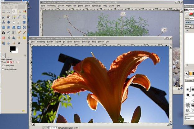 Ideal sind Fotos mit der gleichen Dateigröße.