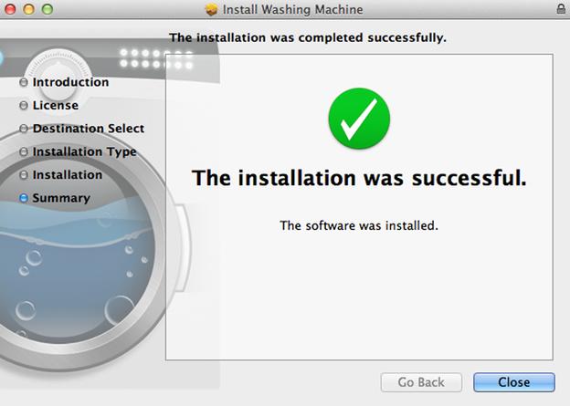 Nach der erfolgreichen Installation ist Ihr Gerät geschützt.