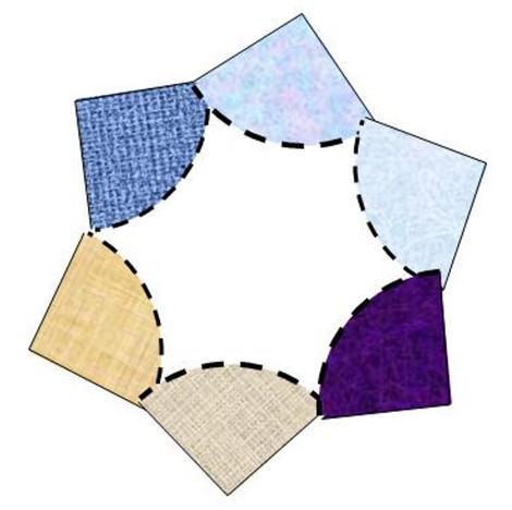 Setzen Sie die Viertelkreise nach diesem Schema zusammen.