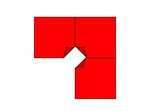 Nähen Sie die Quadrate zusammen.