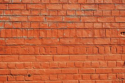 Das ist eine schön gemauerte Ziegelwand.
