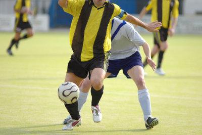 Fußballer haben schnell einen Meniskusschaden.