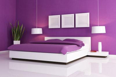 So könnte das selbstgebaute Doppelbett aussehen.