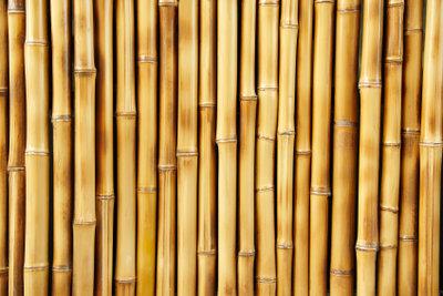 Bambusmatten sind leicht zu reinigen.
