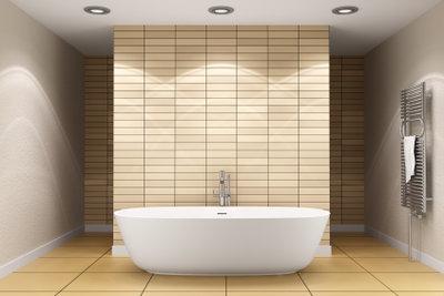 Eine Badewanne benötigt Wannenträger.