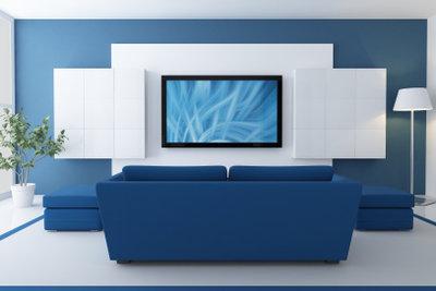 Eine Fernsehwand ist ein echter Hingucker.