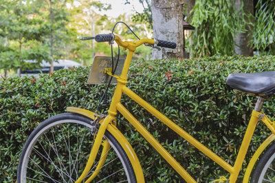 Frisch lackiert wirken Fahrräder wie neu und haben einen individuellen Charakter.