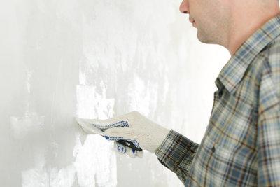 Fassadenputz lässt sich leicht ausbessern.