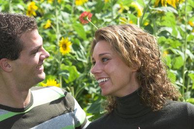 Eine Zuneigungsbekundung ist romantisch am schönsten.