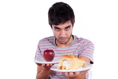 Männer müssen auch ihre Kalorien berechnen.