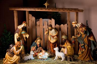 Krippenfiguren gehören zum Weihnachstfest.